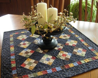 Civil War Table Topper, Reproduction Table Topper, Nine Patch