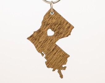 Louisiana Wooden Keychain - LA State Keychain - Wooden Louisiana Carved Key Ring - Wooden LA Charm