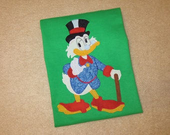 Ebenezer SCRooGe McDuCK CHRISTMAS Custom Boutique T SHIRT Tee HoLiDaY Duck Tales