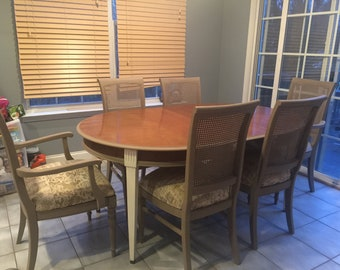 """Brandt """"Genoa"""" table and 6 Ethan Allen Chairs"""