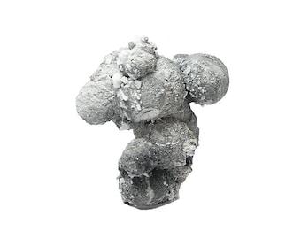 "Gray Crandallite pseudomorphing Wavellite Botryoidal Crystalline ""Grape"" Cluster Mineral Specimen Geology Rare Stone mined in Arkansas USA"