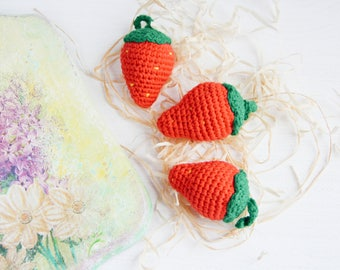 Pretend play food Crochet toddler playing birthday toy Gift amigurumi food Play food set Play kitchen Eco friendly play toy Baby shower gift