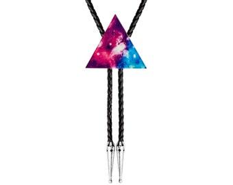 Bolo Tie - Galaxy Triangle #2