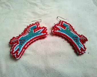 Beaded Horse Earrings