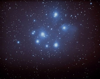 """Pleiades Seven Sisters Original Astrophotography  Poster  13"""" x19""""  AWESOME"""