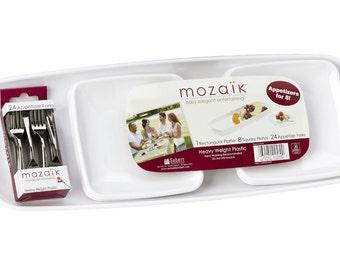 Appetizer Set for 8-by Mozaik-NEW-Easy Elegant Entertaining