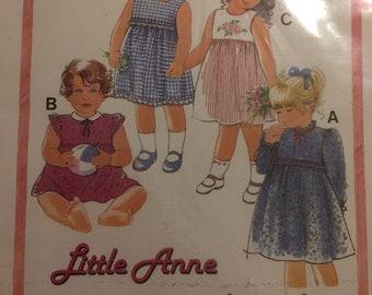 Vintage 1980s Burda Pattern No. 7930 for a girls dress