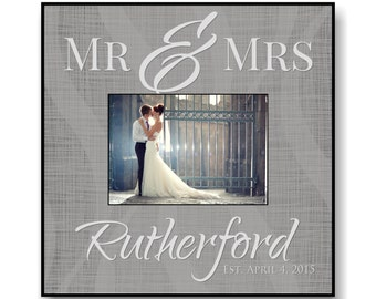 """Personalized Wedding Picture Frame for 5""""x7"""" Photo Frame Overall Size 12""""x12"""""""
