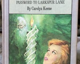 Vintage Nancy Drew Book, Nancy Drew, Vintage Books, Sign of the Twisted Candles, Password to Larkspur Lane, Carolyn Keene, 1968, Young Adult