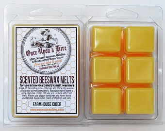 Farmhouse Cider Beeswax Melts | 3 oz. | Natural | Melt-Warmers | Wax Melts | Scented