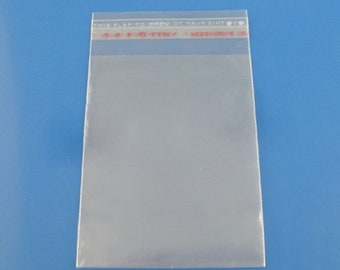 200pcs clear plastic bag self adhesive seal fit jewelry gift package bag