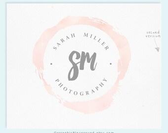 Premade Logo / Watercolor Logo / Photography Logo / Wedding Logo Monogram / Business Logo / Wedding Photography Logo / Watercolour Logo /