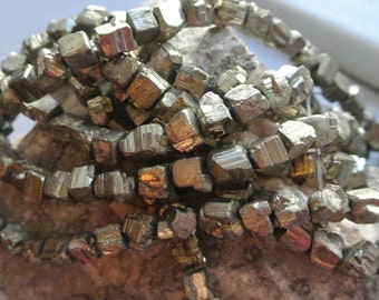 Iron Pyrite Nugget Full Stand