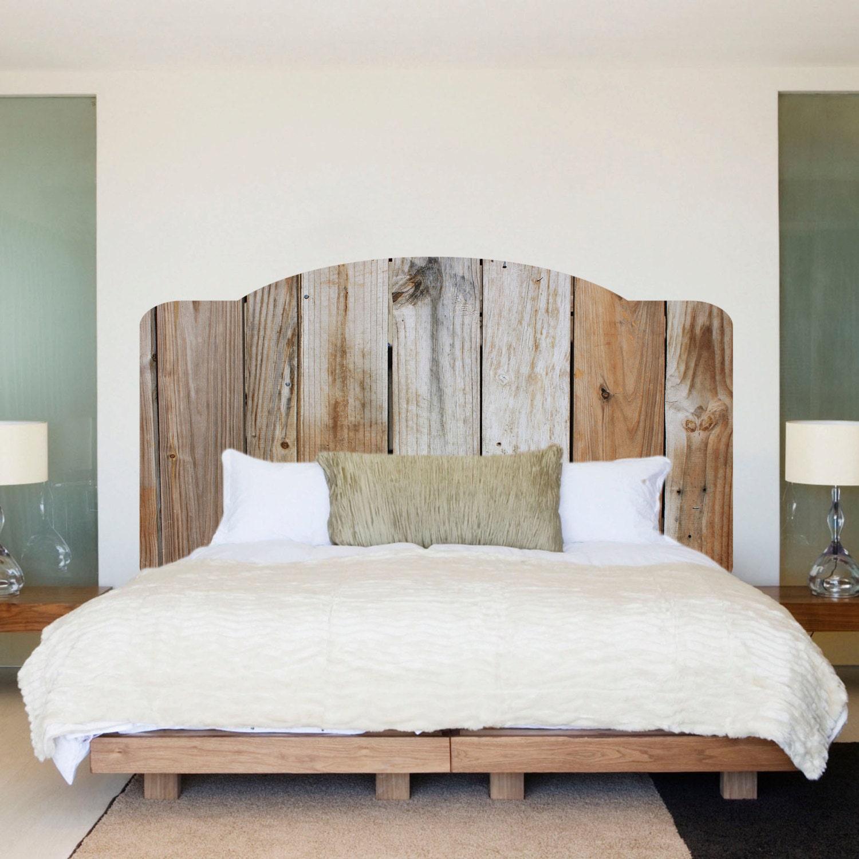 Rustic Wood Headboard Wall Decal Rustic Headboard Wall Mural - Wall decals headboard