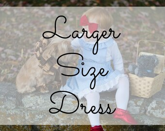 Larger Dress Size Add On