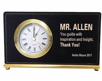 Boss Thank You Gift - Gifts for Mentor Boss - Boss Gift Ideas Personalized - Boss Day Gift - Coworker Gift - Desk Clock, LB011
