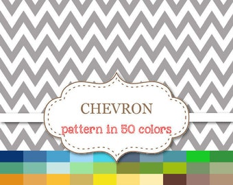 "CHEVRON Pattern 50 Color Paper Pack Chevron Digital Paper Rainbow Chevron Paper Chevron Scrapbook paper Instant Download 12""x12"" #P109"