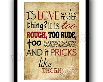 Romeo and Juliet Poster, quote poster, valentines day,minimalist, Shakespeare, wall decor, typography, Modern, Classic