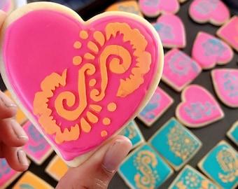 Henna/Mendhi Bridal Sugar Cookies