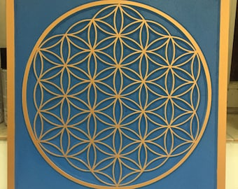 Carved wall art - bloom of life