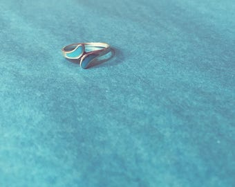 turquoise blue bypass ring