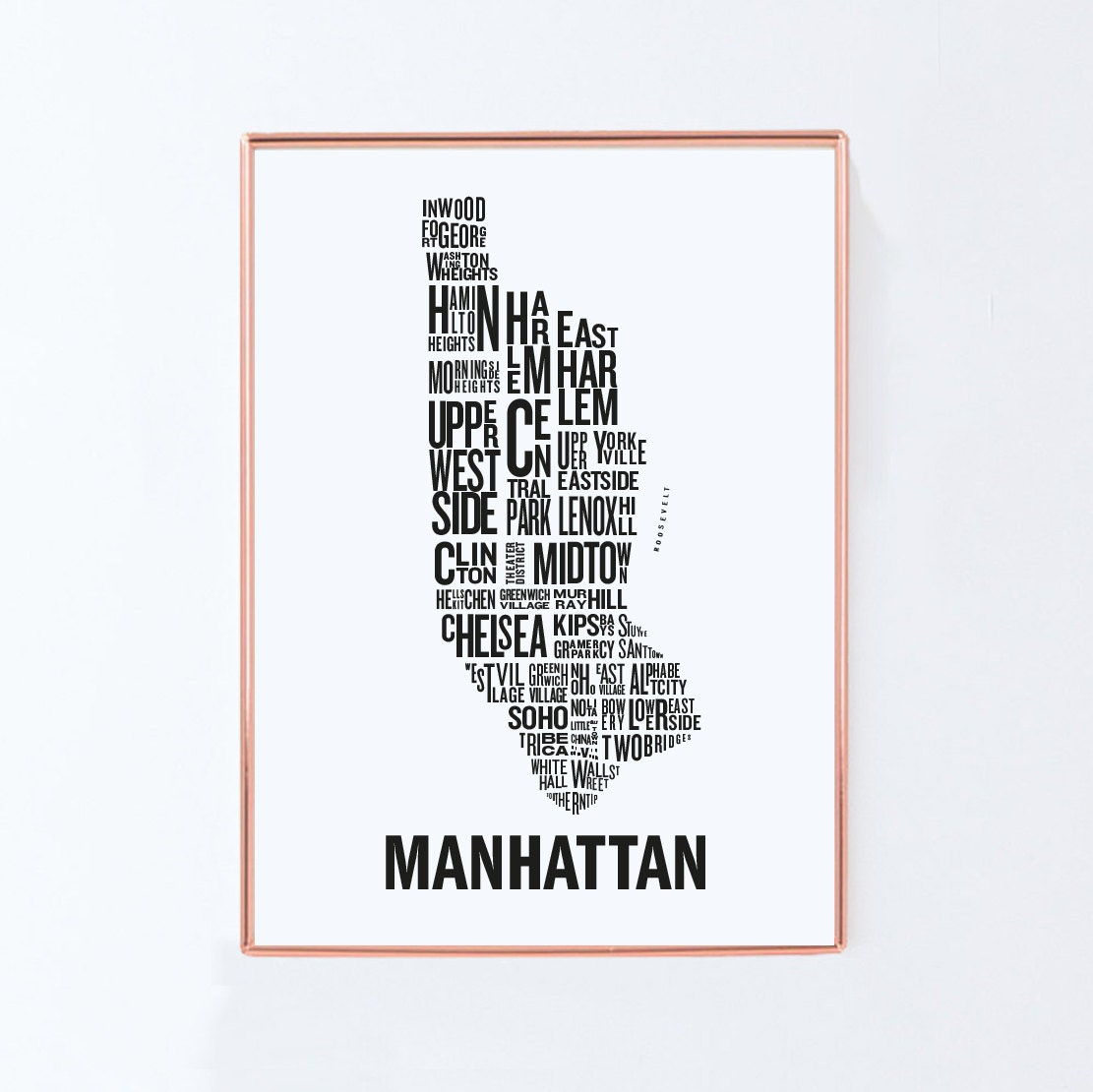 New york map Manhattan map Typography Map Graphic art USA