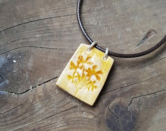 Yellow Flowers Pendant