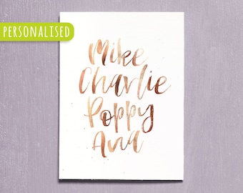 Personalised Family Name Print, Printable Custom Print, Custom Family Decor, Keepsake Home Print, Family Member, Personalised Gift, Wall Art