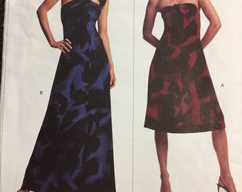 Misses' Evening Dress Sewing Pattern Michael Kors Vogue  2740 Bust 36-40 inches Complete Uncut FF
