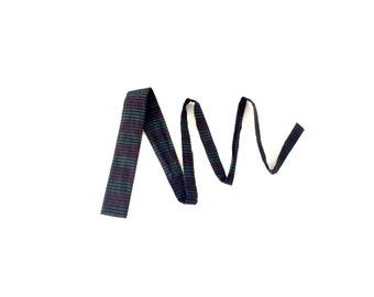 Vintage Square End Tie / 1950s 1960s / Horizontal Stripes / Silk / Lum Designs