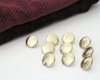 SALE - Plastic Gold Buttons