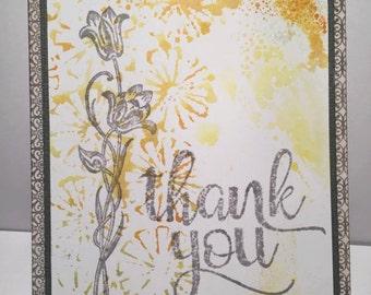 Thank You Card//Handmade Card