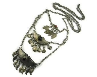 Ethnic Triple Pendant Necklace