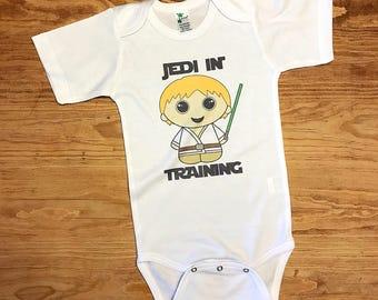 Baby Jedi In Training Luke Skywalker Star Wars Inspired Bodysuit