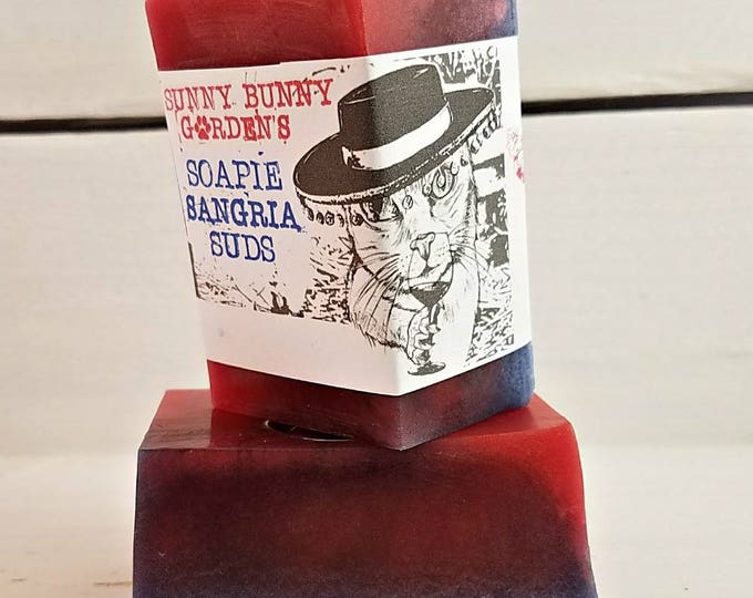 Featured listing image: Organic Soap | Sangria Soap Bar | Sangria Scented Soap | Scented Soap Bars | Gifts for Wine Lovers | Organic Beauty | Organic Handmade Soap