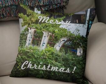 Christmas Throw Pillow, Funny Christmas Decor, Modern Christmas Pillow Cover, Merry Christmas Ho Ho Ho, Holiday Throw Pillow, Xmas Pillow