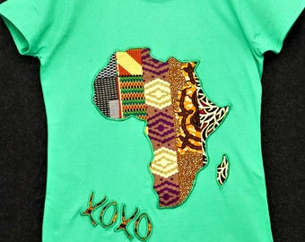 Green ladies Tee|Green T shirt|Love t shirt|XOXO shirt|Hugs and Kisses|Black History Month|Valentine|Map of Africa Tee|Ladies Tee|Gift 4 her