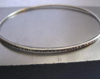 Whisper Sterling Silver Bangle Bracelet