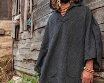 Wool Poncho~ Unisex ~