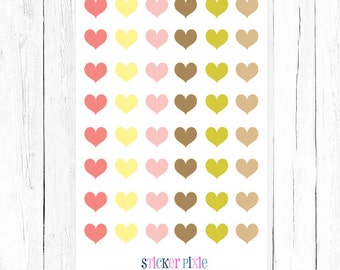 Tiny Hearts Planner Stickers Scrapbook Stickers Matches Floral Birdie Set