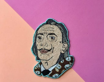 Salvador Dali embroidered patch
