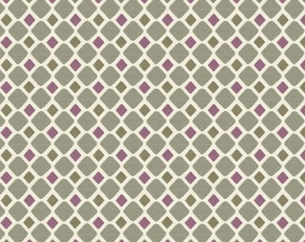 Stone Windowpane Fabric - By The Yard - Girl / Boy / Gender Neutral