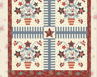 Lizzie's Big Flowers Quilt Pattern by Minick and Simpson - Download