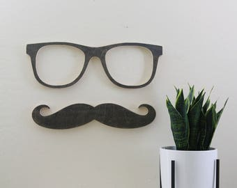 Wood Cut out Retro Glasses/ reading room/ Classroom reading decor