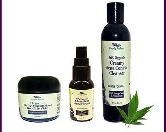 Spot Treatment, Blemish treatment, Pimple Treatment, Acne Scars, Organic Acne Scars Cream, Organic Acne Serum, Organic Acne Cleanser
