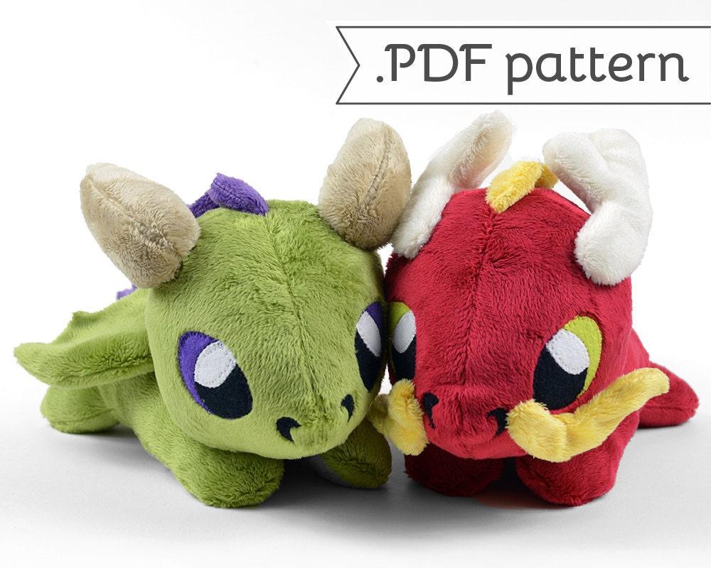 Eastern & Western Laying Dragon Plush .pdf Sewing Pattern
