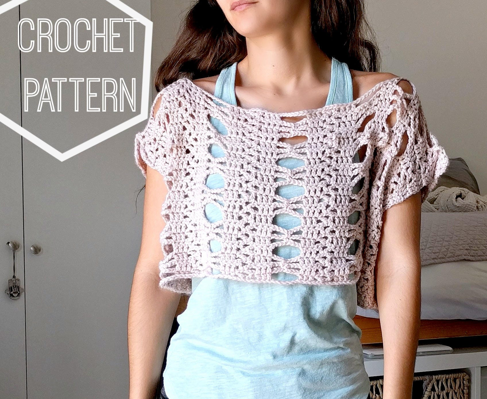 Lace Crochet Boxy Top Pattern Lace Crochet Top Pattern