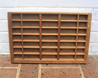 Antique Vintage Printers Wooden Tray Antique Vintage Printers Drawer Shadow Box Letterpress Tray 35 Sections