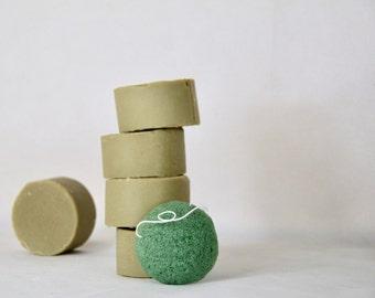 Natural Facial Soap. Green Clay Tea Tree Goats Milk Facial Cleansing Bar