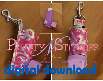 DIGITAL FILE ITH  Embroidery Designs Inhaler holder for Advair and Flovent inhalers, 4X4 hoop  see 2nd photo measurements in description
